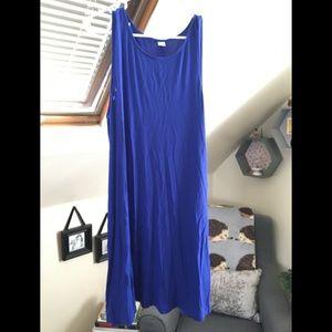 Beautiful royal blue Old Navy swing dress